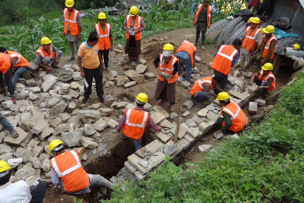 Reconstruction Népal