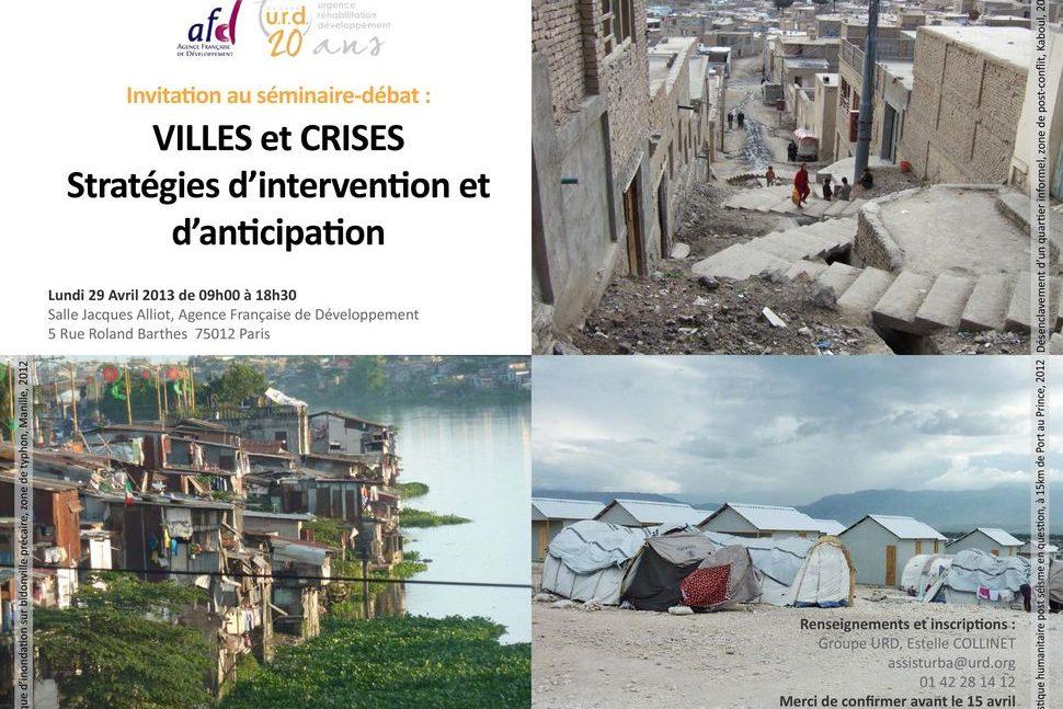 Séminaire Villes et crises